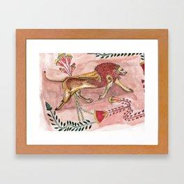 Antique Lion Framed Art Print