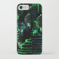green lantern iPhone & iPod Cases featuring Lantern - green by Emma Stein