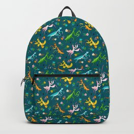 An Unordinary Array of Praying Mantises  Backpack
