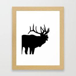 Elk Bugling Silhouette Framed Art Print
