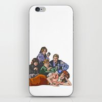 the breakfast club iPhone & iPod Skins featuring The Breakfast Club by Heidi Banford