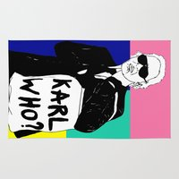 karl Area & Throw Rugs featuring KARL WHO by TEN-iD