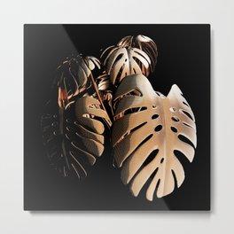 Monsteria Copper Metal Print