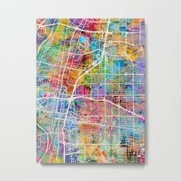 Albuquerque New Mexico City Street Map Metal Print