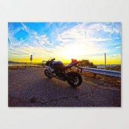 Sunset Rider Canvas Print