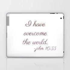 I Have Overcome the World Laptop & iPad Skin