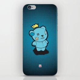 Blue Dead Bear iPhone Skin