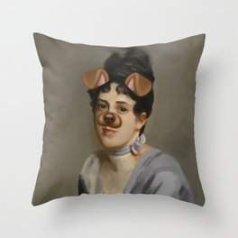 Snapchat Sargent Throw Pillow