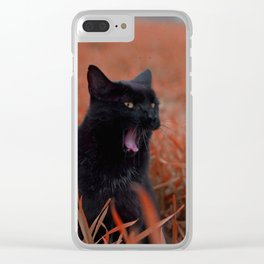 Mr. Moon Takes A Break Clear iPhone Case