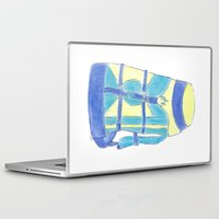 backpack Laptop & iPad Skins featuring A backpack yellow by Atelier Pora