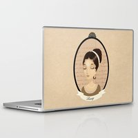pride and prejudice Laptop & iPad Skins featuring Pride and prejudice - Lizzy Bennet by Stravaganza