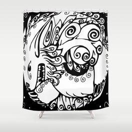 Fu Dog Shower Curtain