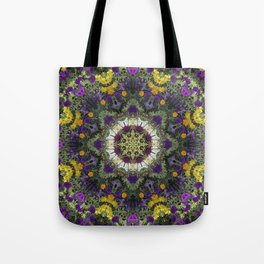 Summer Floral Jewels Kaleidoscope Tote Bag