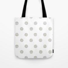 Grey Dots Tote Bag