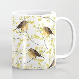 Mimosa and birds Coffee Mug