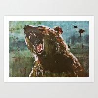 teddy bear Art Prints featuring TEDDY by Tina Yu
