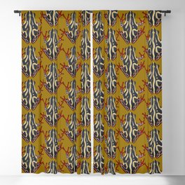 congo tree frog gold Blackout Curtain