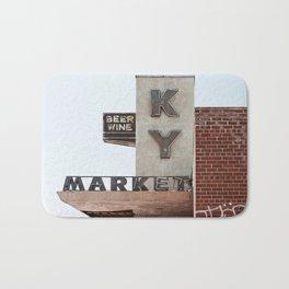 Vintage Neon Sign - KY Market - Tucson Arizona Bath Mat