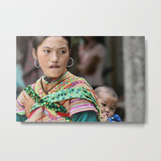 Village Woman Metal Print