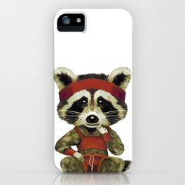 Racoon Mapache iPhone Case