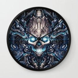 Dark Cybernetic Wall Clock