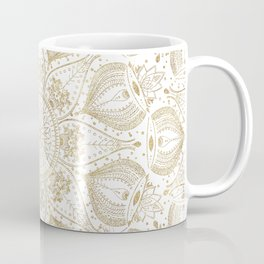 Boho Chic gold mandala design Coffee Mug