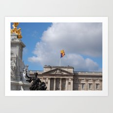 The Flag Flying, Buckingham Palace Art Print