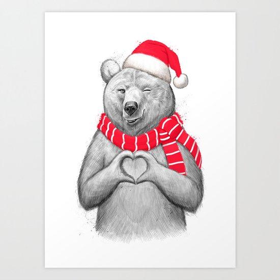 christmas bear #2 Art Print