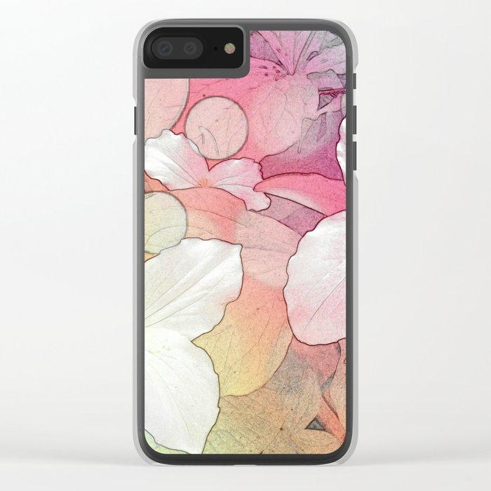 Trillium flowers Clear iPhone Case