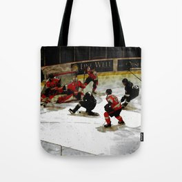 The End Zone - Ice Hockey Game Tote Bag