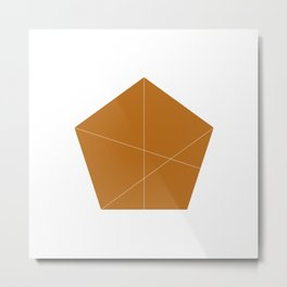#245 Absent-minded – Geometry Daily Metal Print