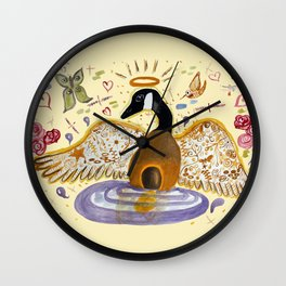 Golden Goose Wall Clock