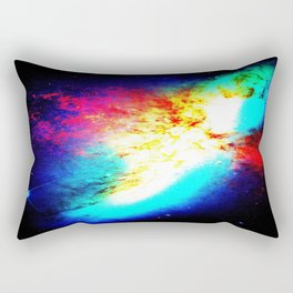 Bright & Colorful Galaxy Messier 82 Rectangular Pillow