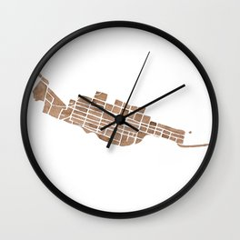 Telluride Colorado Map Wall Clock