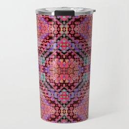Shibori Folk Coral Travel Mug