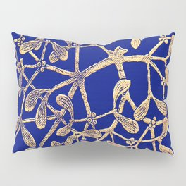 Mistletoe Blue Pillow Sham