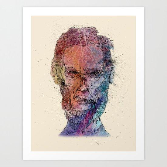 Zombie Lincoln Art Print