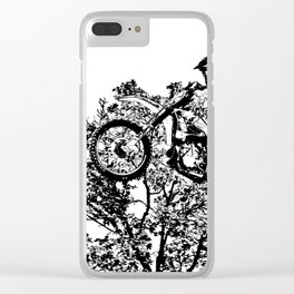 Stealing the Air - Freestyle Motocross Rider Clear iPhone Case