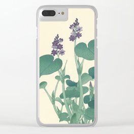 Ohara Koson Japanese Woodcut with Flowers Clear iPhone Case
