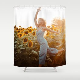 flower photography by Blake Cheek Shower Curtain