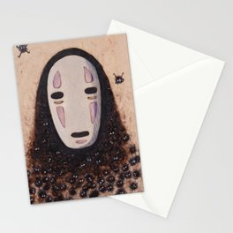 No Face - Spirited Away with Soot sprites (Susuwatari) Stationery Cards