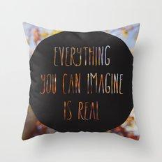 imagine the autumn bokeh Throw Pillow