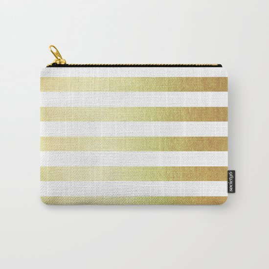 Simply Striped 24K Gold Carry-All Pouch