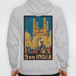 Vintage poster - India Hoody