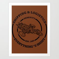 SERENITY SHIPPING AND LOGISTICS Art Print