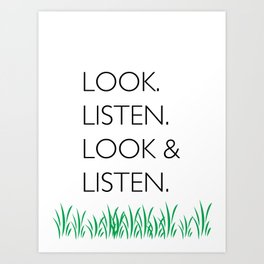 Look and Listen Art Print