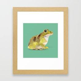 Low Poly Leopard Frog Framed Art Print