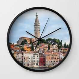 Rovinj, Croatia Panorama Wall Clock