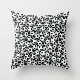 Soccer balls Throw Pillow