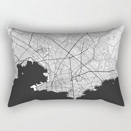 Montevideo Map Gray Rectangular Pillow